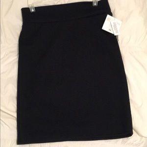 LuLaRoe Black Cassie skirt